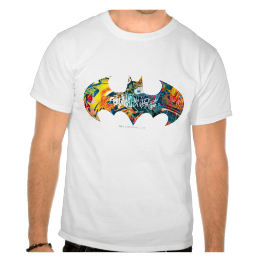Batman Logo Neon Unisex T Shirt
