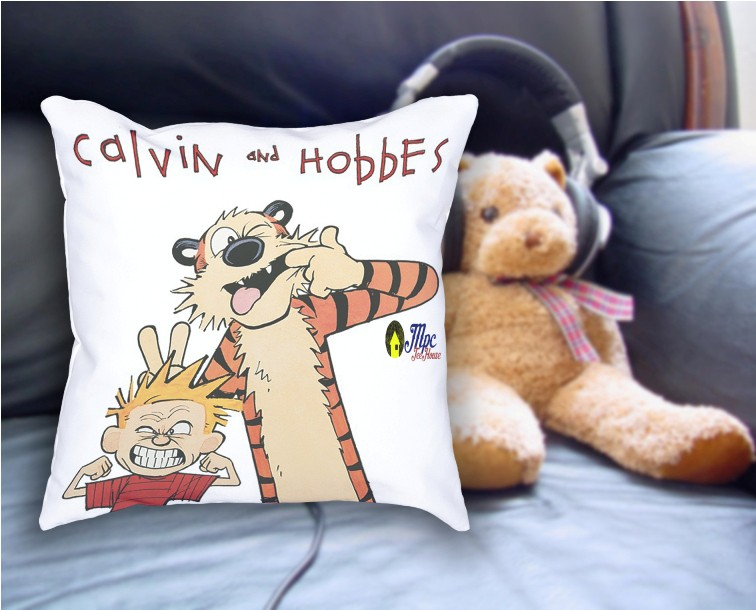 Cute Calvin Hobbes Pillow Cover