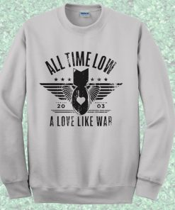 All Time Low A Love Like War Crewneck Sweatshirt