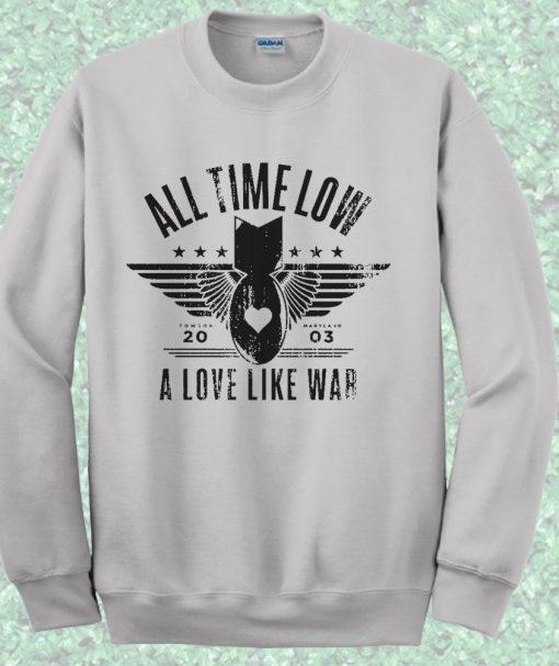 All Time Low A Love Like War Crewneck Sweatshirt