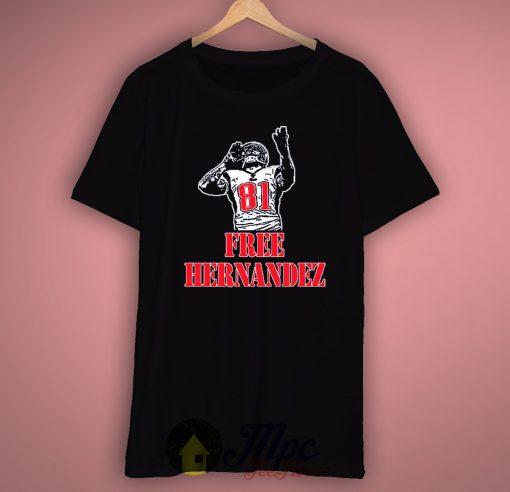 Aaron Hernandez England Patriots NFL Team Unisex Premium T shirt Size S,M,L,XL,2XL