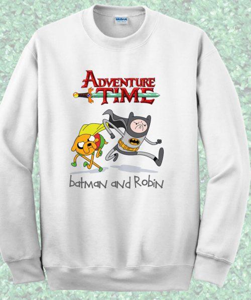Adventure Time Batman and Robin Crewneck Sweatshirt