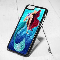 Ariel Little Mermaid Sparkle Protective iPhone 6 Case, iPhone 5s Case, iPhone 5c Case, Samsung S6 Case, and Samsung S5 Case