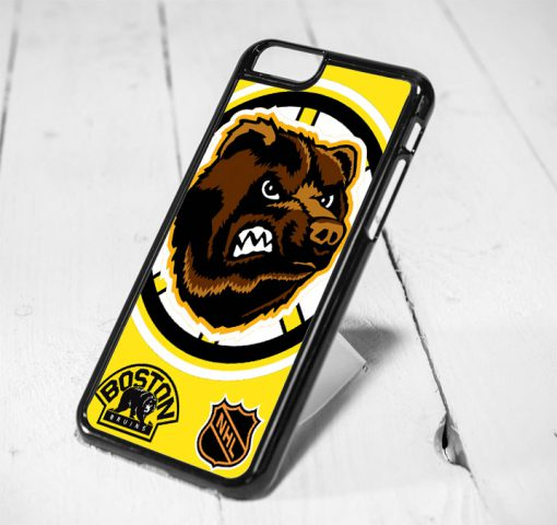 Boston Bruins NHL Team Protective iPhone 6 Case, iPhone 5s Case, iPhone 5c Case, Samsung S6 Case, and Samsung S5 Case
