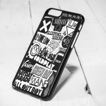 Band Symbol Collage, Nirvana, Coldplay Protective iPhone 6 Case, iPhone 5s Case, iPhone 5c Case, Samsung S6 Case, and Samsung S5 Case