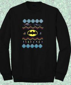 Batman Car Sweater Crewneck Sweatshirt