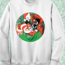 Batman Joker and Harley Quinn Crewneck Sweatshirt
