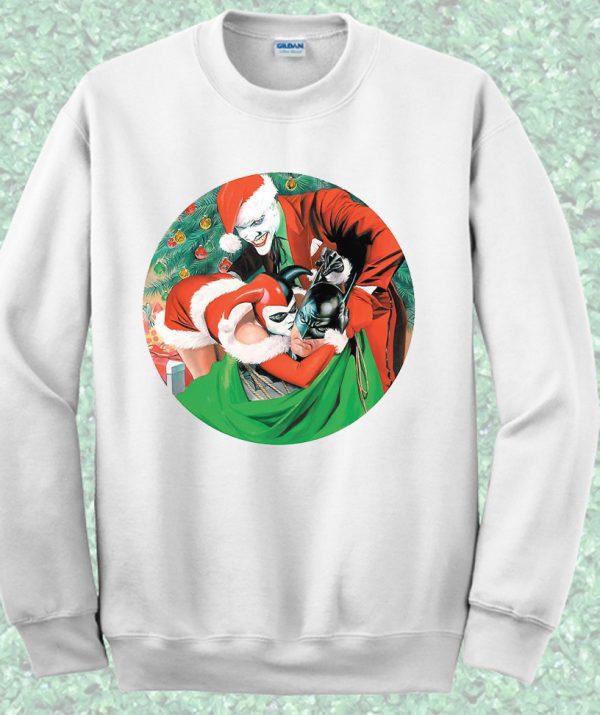 Batman Joker and Harley Quinn Crewneck Sweatshirt