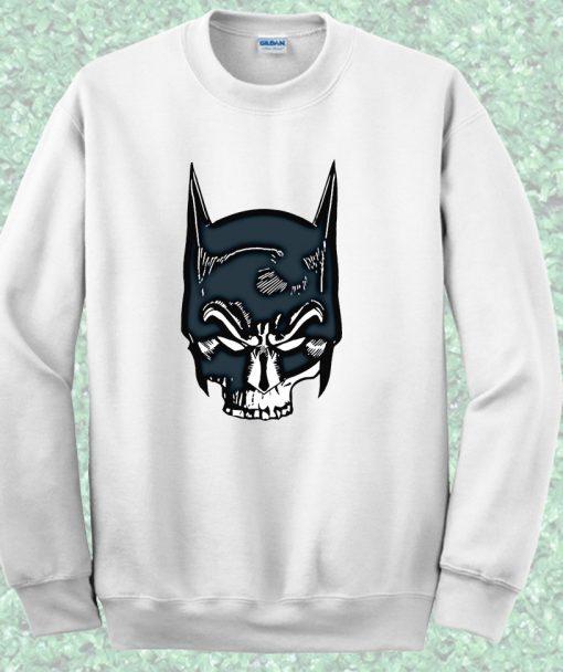 Batman Skull Face Crewneck Sweatshirt