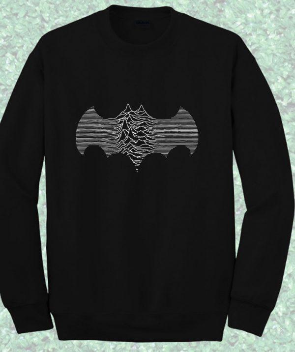 Batman Joy Division Waves Style Crewneck Sweatshirt