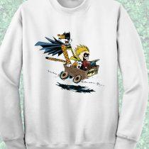Calvin Hobbes Batman Explorer Crewneck Sweatshirt