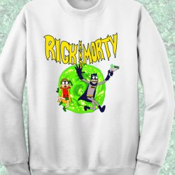 Rick Morty Batman Style Crewneck Sweatshirt