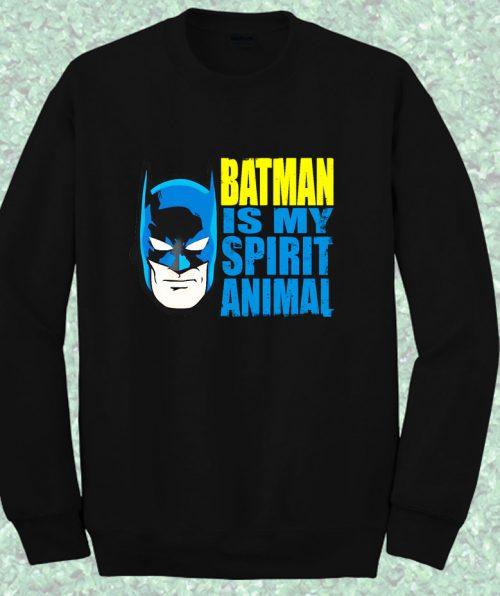 Batman is My Spirit Animal Bob Burger Crewneck Sweatshirt