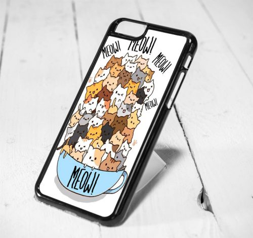 Cat Meow Protective iPhone 6 Case, iPhone 5s Case, iPhone 5c Case, Samsung S6 Case, and Samsung S5 Case