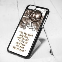 Disney Cheshire Cat Smile Quote Protective iPhone 6 Case, iPhone 5s Case, iPhone 5c Case, Samsung S6 Case, and Samsung S5 Case