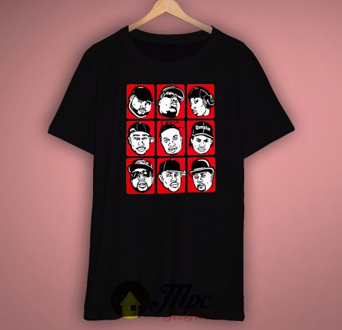 Classic Hiphop Legend Collage Wutang,Big Notorious, Tupac Unisex Premium T shirt Size S,M,L,XL,2XL