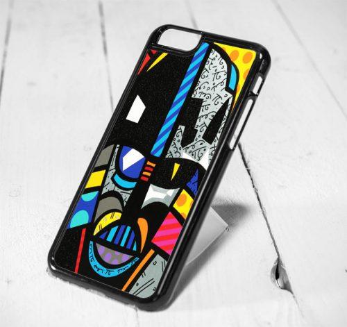 Darth Vader Starwars Romero Britto Style iPhone 6 Case, iPhone 5s Case, iPhone 5c Case, Samsung S6 Case