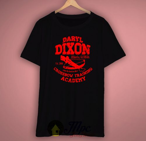 Daryl Dixon Walking Dead Crossbow Training Unisex Premium T shirt Size S,M,L,XL,2XL