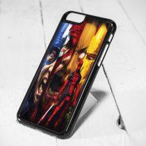 Deadpool Collage iPhone 6 Case, iPhone 5s Case, iPhone 5c Case, Samsung S6 Case, and Samsung S5 Case