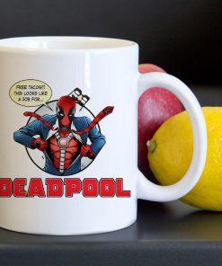 Funny Deadpool Job Tea Coffee Classic Ceramic Mug 11oz