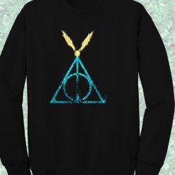 Deathly Hallows Harry Potter Symbol Crewneck Sweatshirt