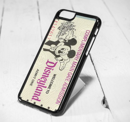 Disneyland Mickey Mouse Ticket Protective iPhone 6 Case, iPhone 5s Case, iPhone 5c Case, Samsung S6 Case, and Samsung S5 Case