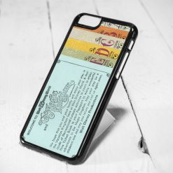 Disneyland Ticket Protective iPhone 6 Case, iPhone 5s Case, iPhone 5c Case, Samsung S6 Case, and Samsung S5 Case