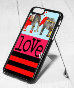 Elephant Love Art Protective iPhone 6 Case, iPhone 5s Case, iPhone 5c Case, Samsung S6 Case, and Samsung S5 Case