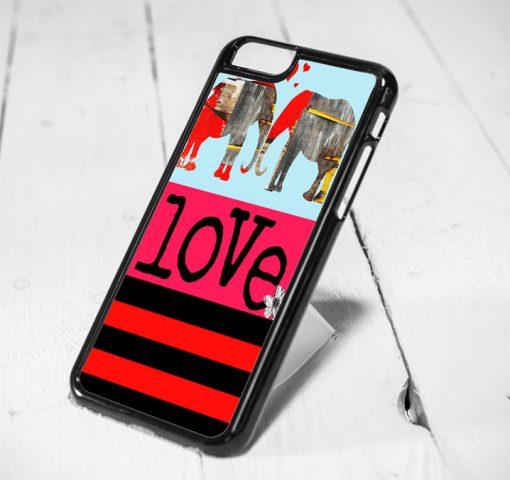 Elephant Love Art Protective iPhone 6 Case, iPhone 5s Case, iPhone 5c Case, Samsung S6 Case, and Samsung S5 Case