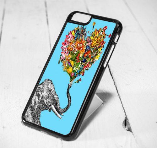 Elephant Love Tribal Art Protective iPhone 6 Case, iPhone 5s Case, iPhone 5c Case, Samsung S6 Case, and Samsung S5 Case