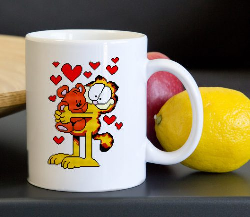 Garfield Bear Hug Tea Coffee Classic Ceramic Mug 11oz