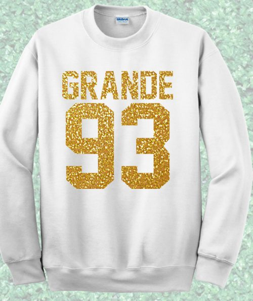 Grande 93 Birthday Jersey Number Crewneck Sweatshirt