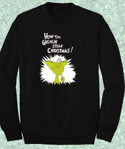 Gremlin The Grinch Style Crewneck Sweatshirt