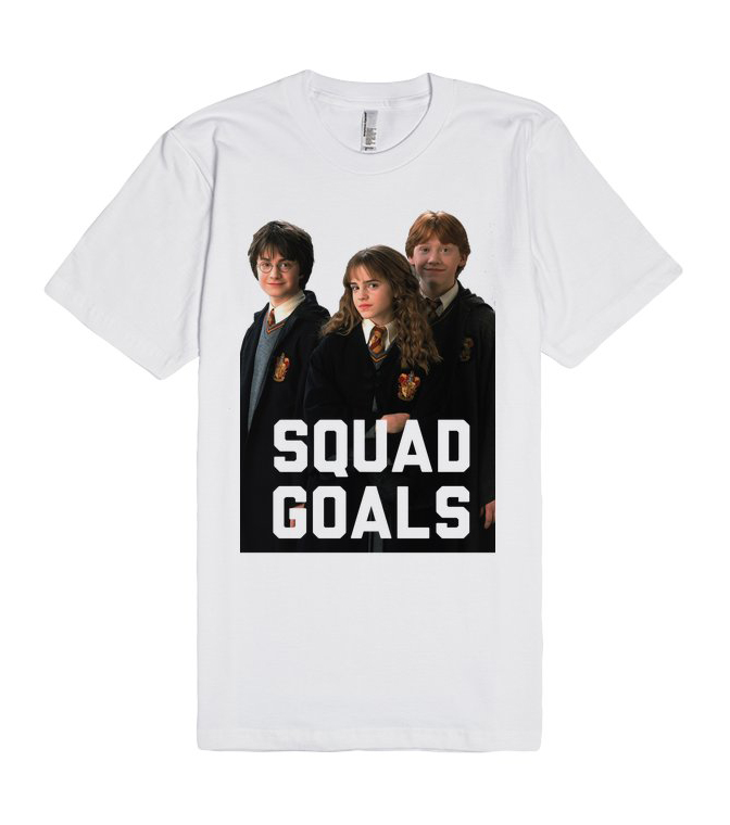 Harry Potter Squad Goals Unisex Premium T shirt Size S,M,L,XL,2XL