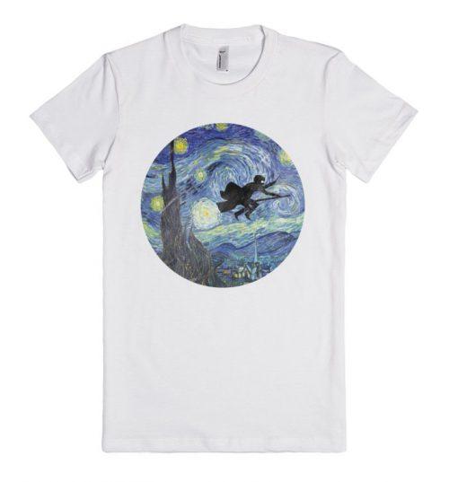 Harry Potter Stary Night Unisex Premium T shirt Size S,M,L,XL,2XL