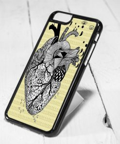 Heart Anatomy Protective iPhone 6 Case, iPhone 5s Case, iPhone 5c Case, Samsung S6 Case, and Samsung S5 Case