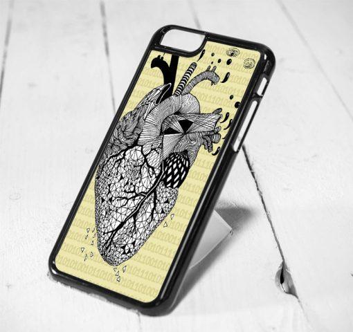 Heart Anatomy Protective iPhone 6 Case, iPhone 5s Case, iPhone 5c Case, Samsung S6 Case, and Samsung S5 Case