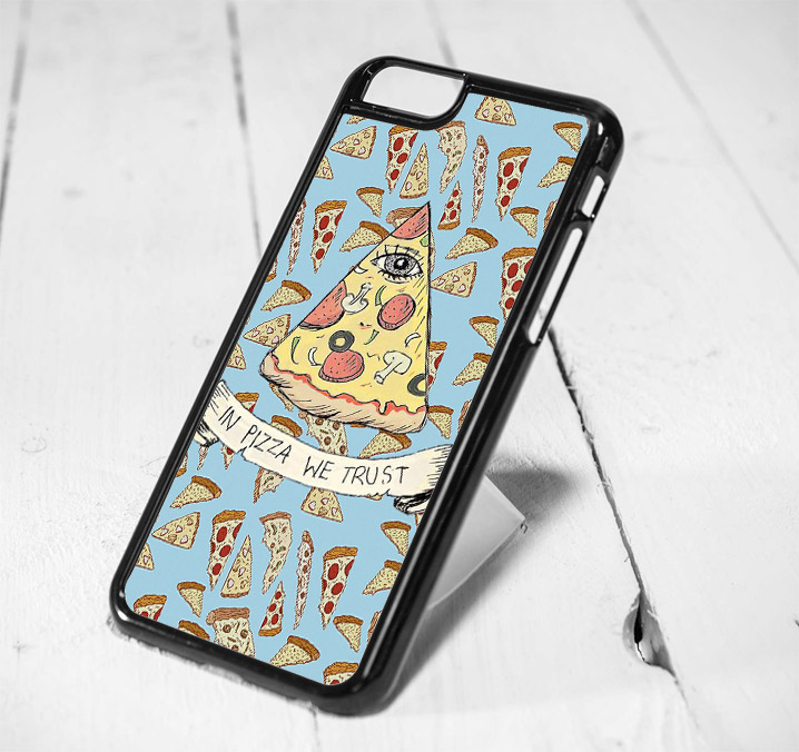 In Pizza We Trust Hipster Protective iPhone 6 Case, iPhone 5s Case, iPhone 5c Case, Samsung S6 Case, and Samsung S5 Case