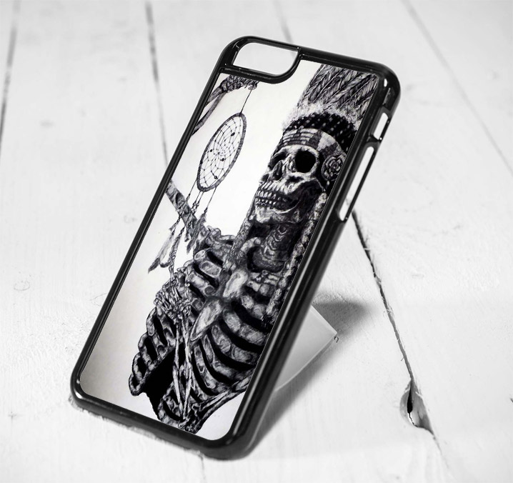 Indian Skull Dreamcatcher Protective iPhone 6 Case, iPhone 5s Case, iPhone 5c Case, Samsung S6 Case, and Samsung S5 Case