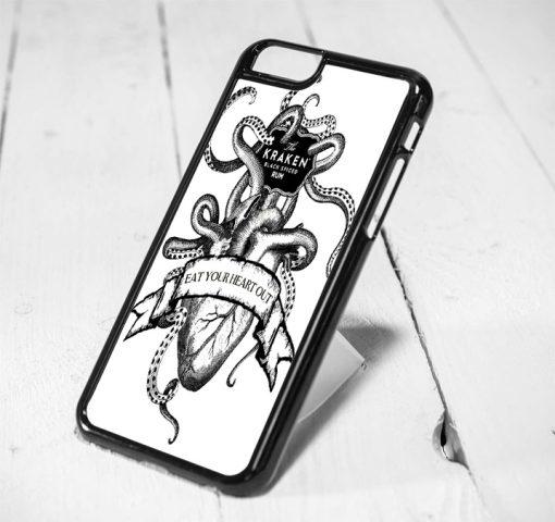 Kraken Eat Your Heart Protective iPhone 6 Case, iPhone 5s Case, iPhone 5c Case, Samsung S6 Case, and Samsung S5 Case