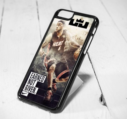 Lebron James Basketball Protective iPhone 6 Case, iPhone 5s Case, iPhone 5c Case, Samsung S6 Case, and Samsung S5 Case