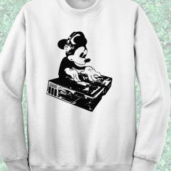 Funny DJ Mickey Mouse Crewneck Sweatshirt