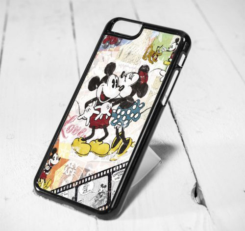 Mickey Love Minnie Vintage Protective iPhone 6 Case, iPhone 5s Case, iPhone 5c Case, Samsung S6 Case, and Samsung S5 Case