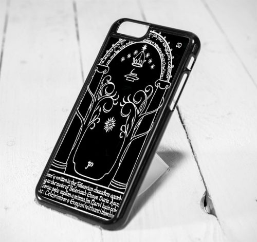 Moria Gate The Lord Of The Rings Protective iPhone 6 Case, iPhone 5s Case, iPhone 5c Case, Samsung S6 Case, and Samsung S5 Case
