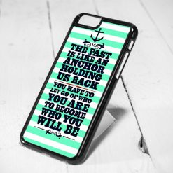 Nautical Anchor Quote Mint Protective iPhone 6 Case, iPhone 5s Case, iPhone 5c Case, Samsung S6 Case, and Samsung S5 Case