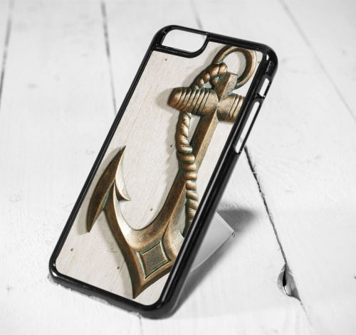 Nautical Anchor Wood Protective iPhone 6 Case, iPhone 5s Case, iPhone 5c Case, Samsung S6 Case, and Samsung S5 Case