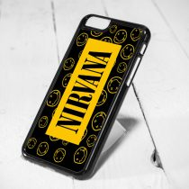 Nirvana Smile Pattern Protective iPhone 6 Case, iPhone 5s Case, iPhone 5c Case, Samsung S6 Case, and Samsung S5 Case