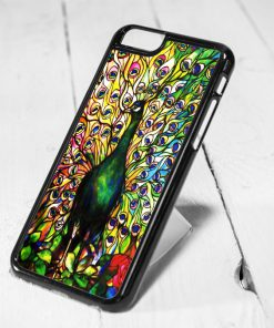 Peacock Stained Glass Protective iPhone 6 Case, iPhone 5s Case, iPhone 5c Case, Samsung S6 Case, and Samsung S5 Case