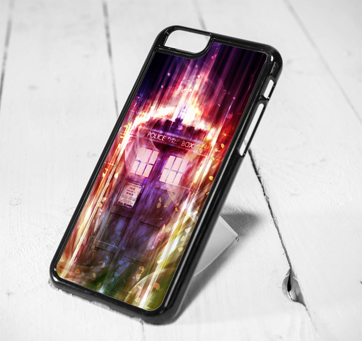 Police Box Doctor Who Mist Protective iPhone 6 Case, iPhone 5s Case, iPhone 5c Case, Samsung S6 Case, and Samsung S5 Case