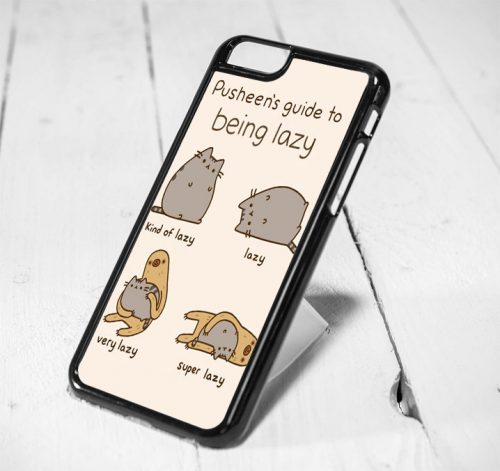 Pusheen Guide To Being Lazy Protective iPhone 6 Case, iPhone 5s Case, iPhone 5c Case, Samsung S6 Case, and Samsung S5 Case